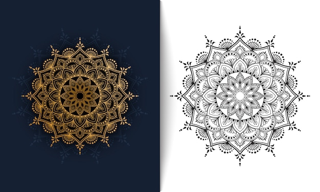 Floral mandala, luxury ornament vector illustration
