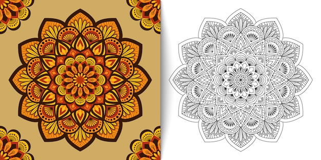 Floral mandala, luxury ornament vector illustration