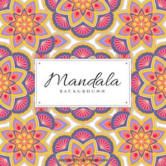 花の曼荼羅のパターンの背景