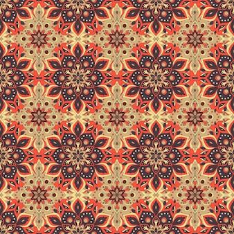 꽃 만다라 원활한 패턴