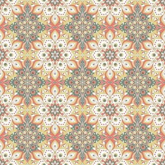 Floral mandala seamless pattern
