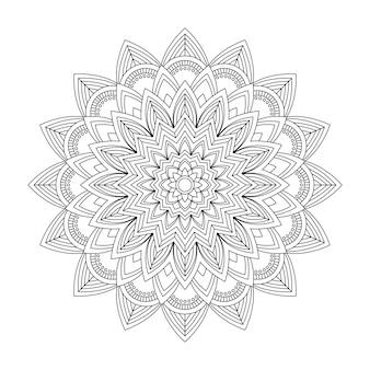 花曼荼羅、ベクトルイラスト