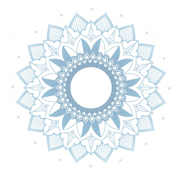 Floral mandala on white