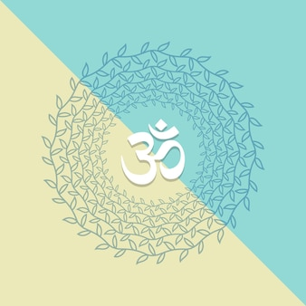 Floral mandala with om symbol