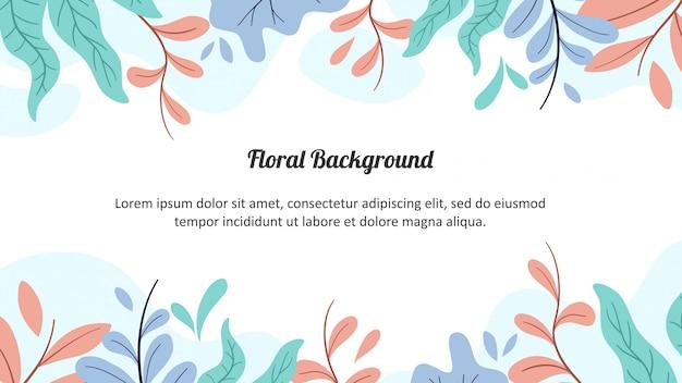 Floral matte color background