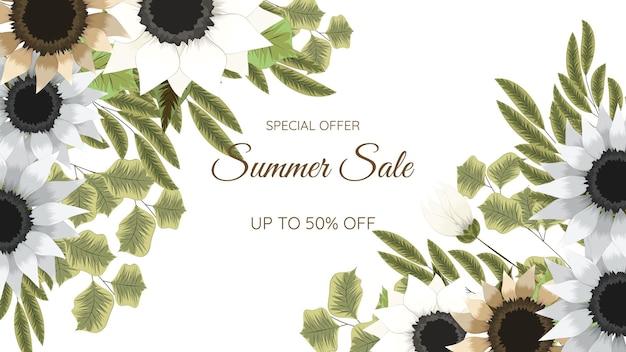 Цветочные мега-сбережения, скидки, распродажа, фон для покупок