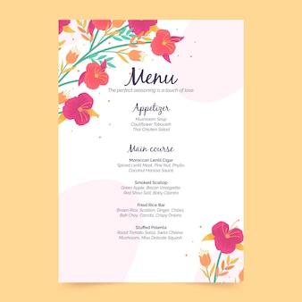 Шаблон цветочного меню