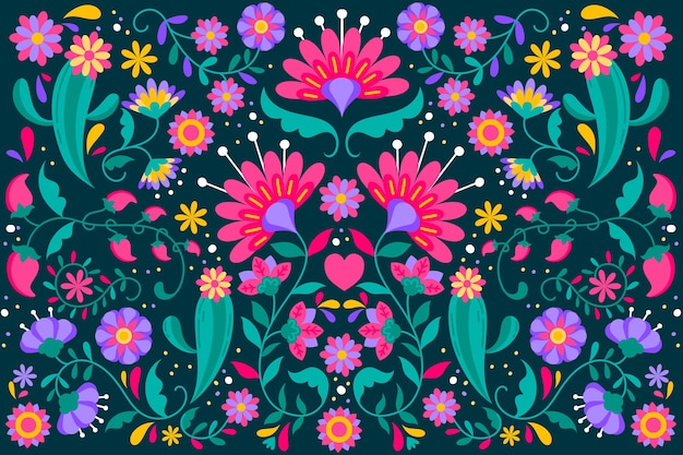 花のメキシコの背景
