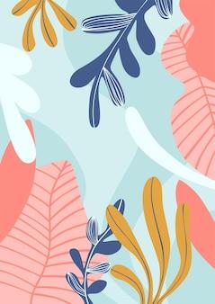 꽃 최소한의 표지 템플릿