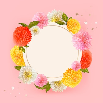 Floral mockup frame illustration
