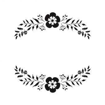 꽃 모노그램 종이 잘라 파일