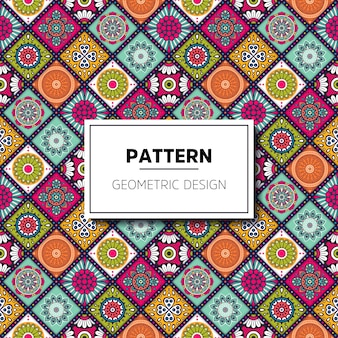 꽃 모자이크 타일 패턴