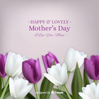 Floral mother's day background