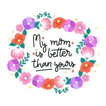 花の母の日の概念