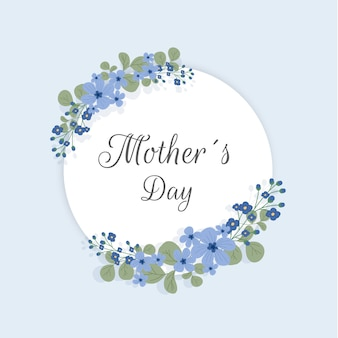Floral mother's day concept