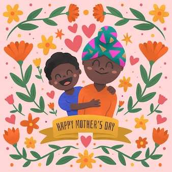 꽃 어머니의 날 그림