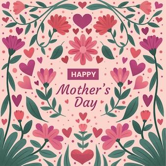 Цветочная иллюстрация дня матери