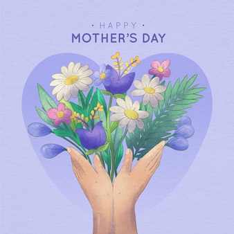 Floral mother's day illustration