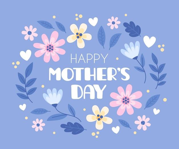 Floral mother's day illustration