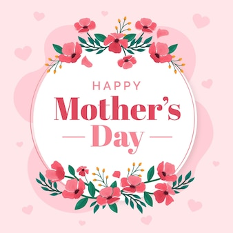 Floral mother's day illustration Free Vector
