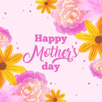 Floral mother's day with greeting