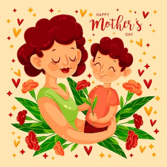 Floral mothers day concept