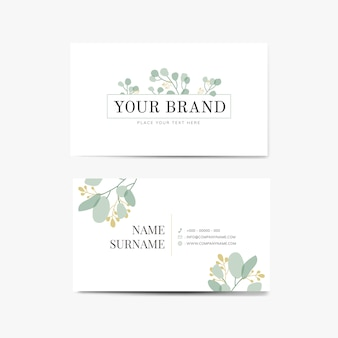 Floral name card