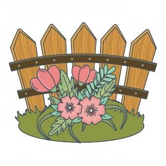 Floral nature flowers cartoon