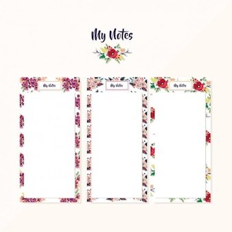 Floral note lists collection