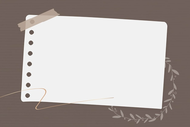 꽃 메모 용지 서식 파일