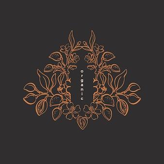 꽃 유기 기호 lant 천연 너트 아트 라인 나뭇잎 곡물 자연 그래픽 패턴