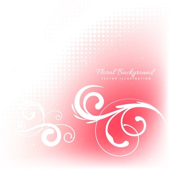 Floral ornament background in red color