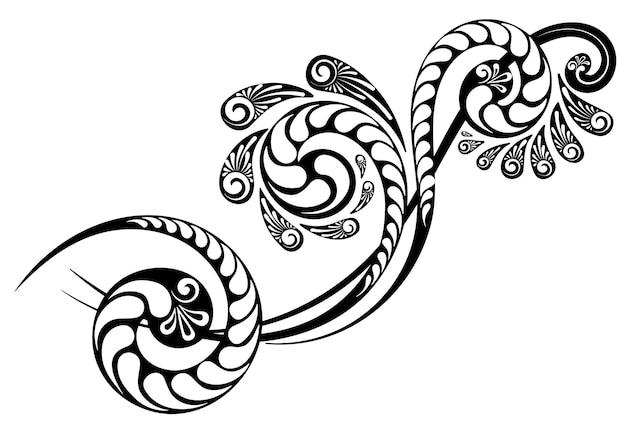 Растительный орнамент для оформления пригласительных писем и поздравительных открыток