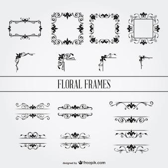 Set floral cornici ornamenti