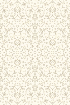 Floral ornament and hindu henna seamless pattern