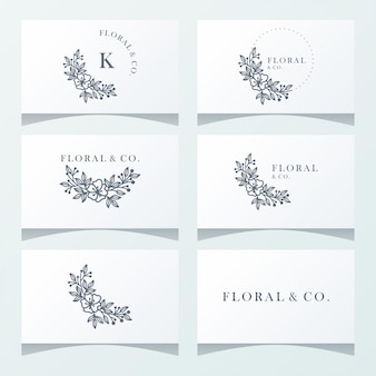 Floral ornament logo ready to use