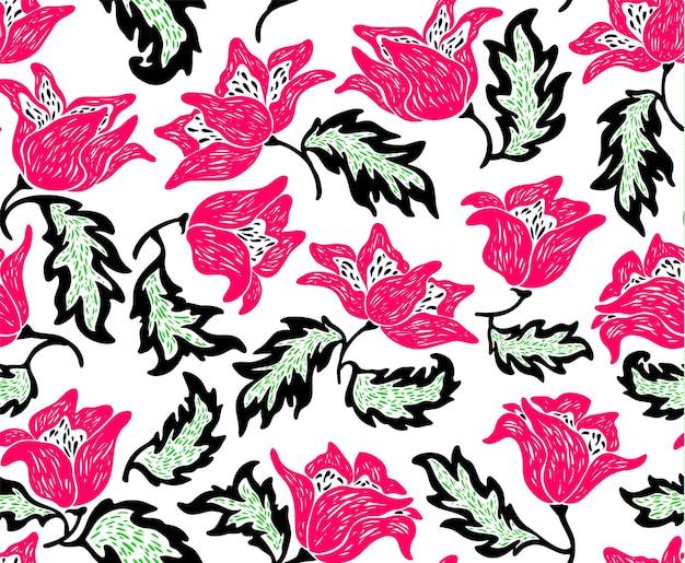 Цветочный орнамент шаблон, праздник фон с цветами