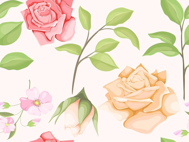 花飾りシームレスパターンテンプレート