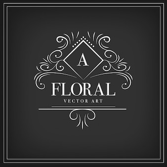 Floral ornamental logotype