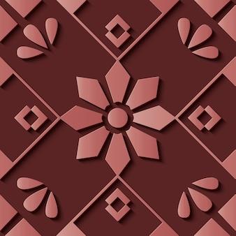 花の装飾的なシームレスパターン