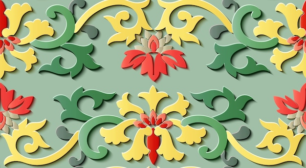 꽃 장식 완벽 한 패턴