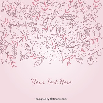 Floral ornaments background