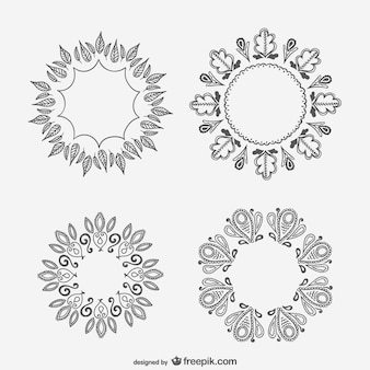 Floral ornaments drawings