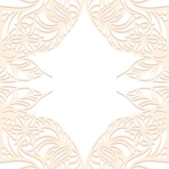 Floral paper frame copyspace.