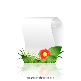 Carta floral scroll