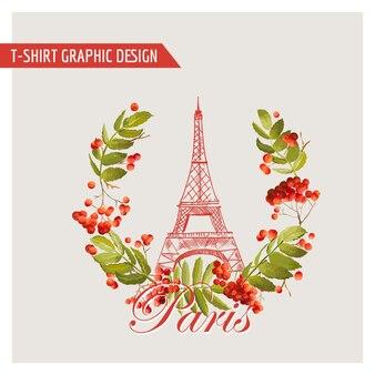 Floral paris graphic design