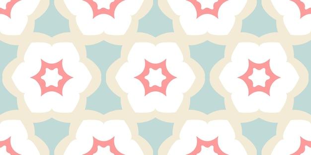직물에 꽃 파스텔 패턴