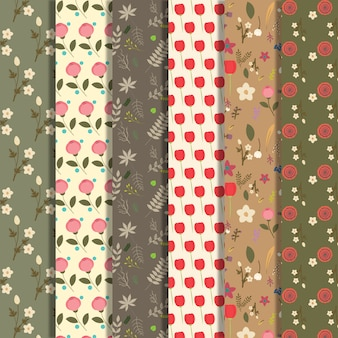 Floral pattern background collection