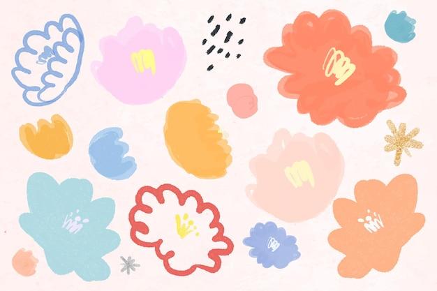 꽃 패턴 배경 손으로 그린