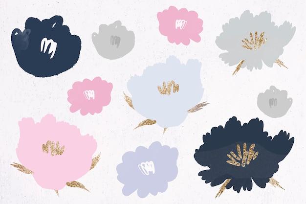 Цветочный узор фона рисованной